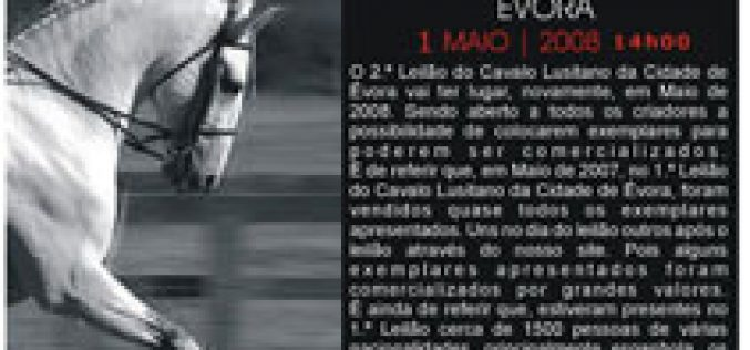 2º Leilão do Cavalo Lusitano – Évora