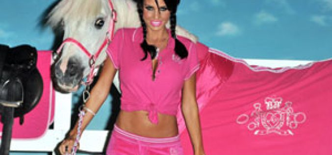 "Katie Price launches ""pink"" equestrian clothing…"