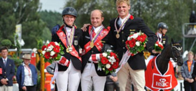 Jubilant Germans take double gold at HSBC FEI European Eventing Championships