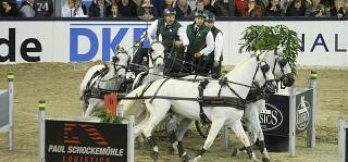 IJsbrand Chardon (NED) won the first FEI World Cup™ Driving competition of the season held in Hannover