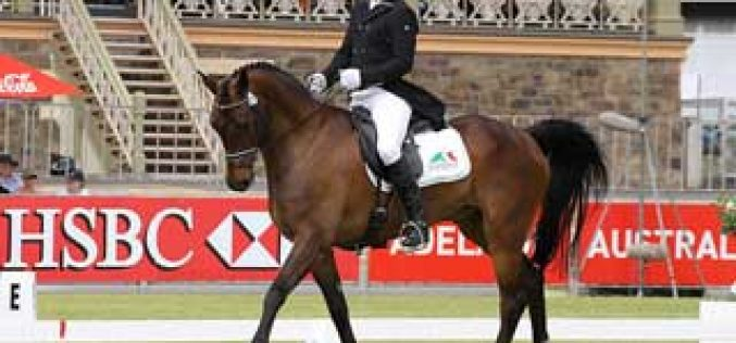 Shane Rose and APH Moritz take the lead after Dressage in Adelaide