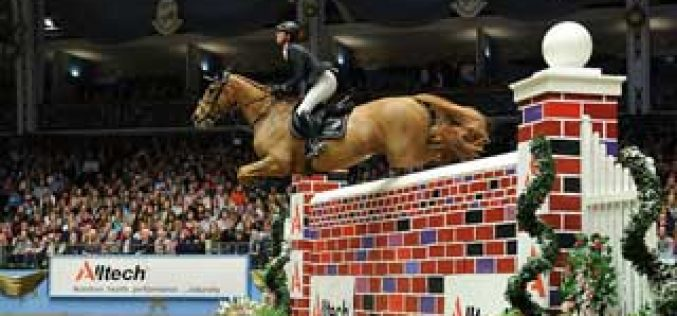 Olympic Gold Medallist Ben Maher Claims the Alltech Christmas Puissance a Second Time
