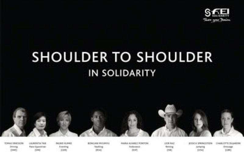 International equestrians unite as FEI Solidarity Ambassadors to develop global sport