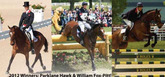 William Fox-Pitt Heads Impressive List of Riders Set to Compete at the 2013 Rolex Kentucky Three-Day Event
