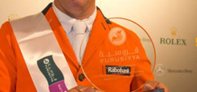 Gerco Schröder winner of the Furusiyya Rider of the Day award