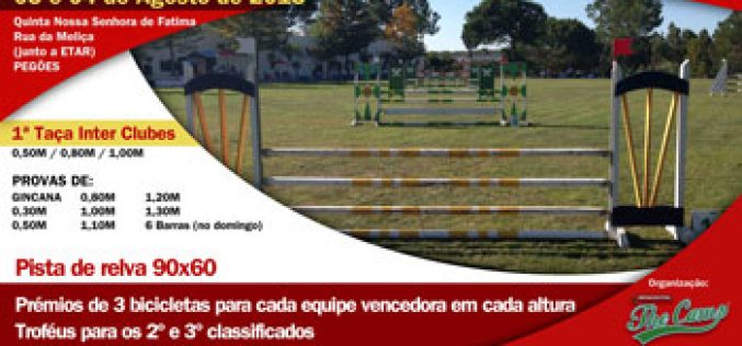 1ª Taça Inter Clubes The Camp® – 3 e 4 de Agosto