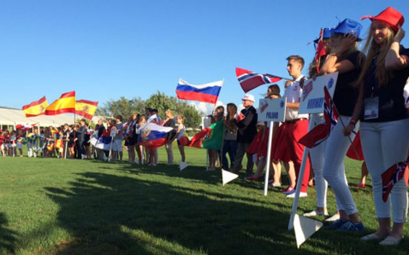 Opening Ceremony of the 2014 European Dressage Championships for Young Riders and Juniors