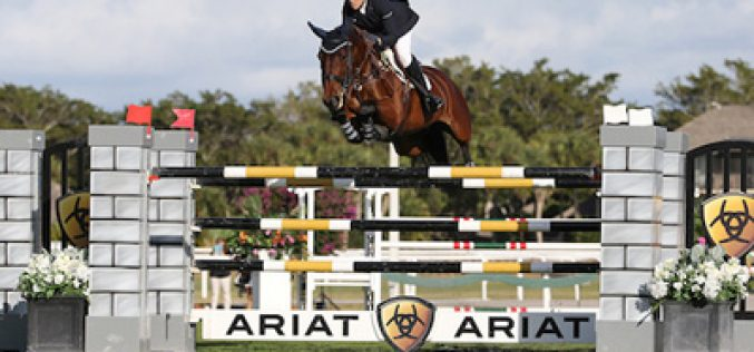 Brianne Goutal claims the Ariat Grand Prix