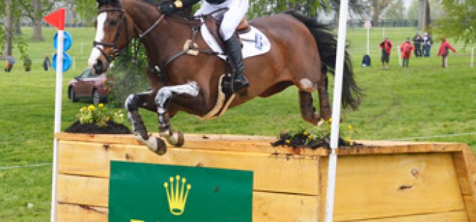 Tim Price takes the lead at the Rolex Kentucky after cross-country