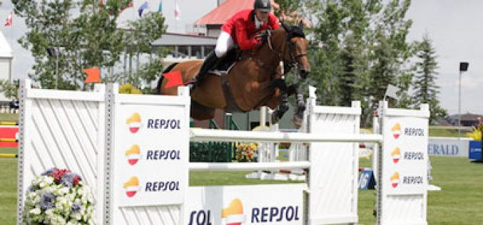 Francois Mathy takes the Repsol Cup at Spruce Meadows
