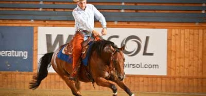 German Juniors and Italian Young Riders shine at Reining Championships in Givrins