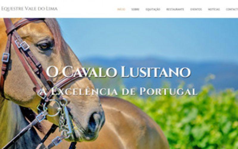 Centro Equestre Vale do Lima com um site renovado