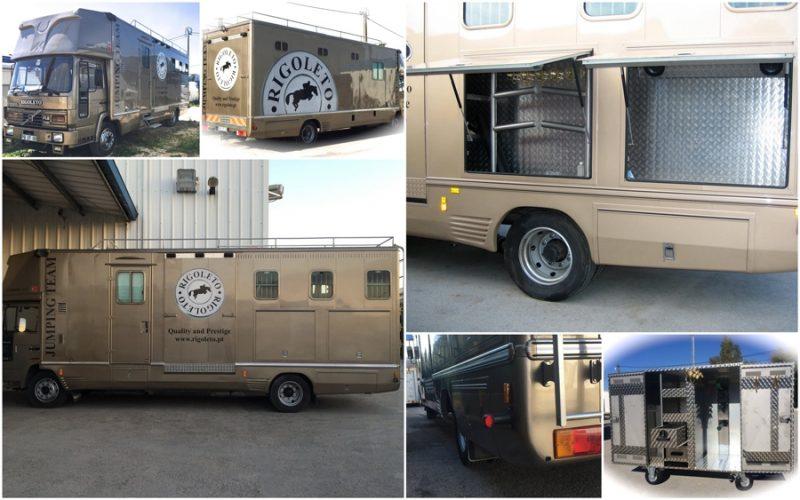 Vende-se Camião Volvo para transporte de cavalos