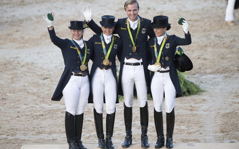 Germany takes Olympic Dressage team gold once again