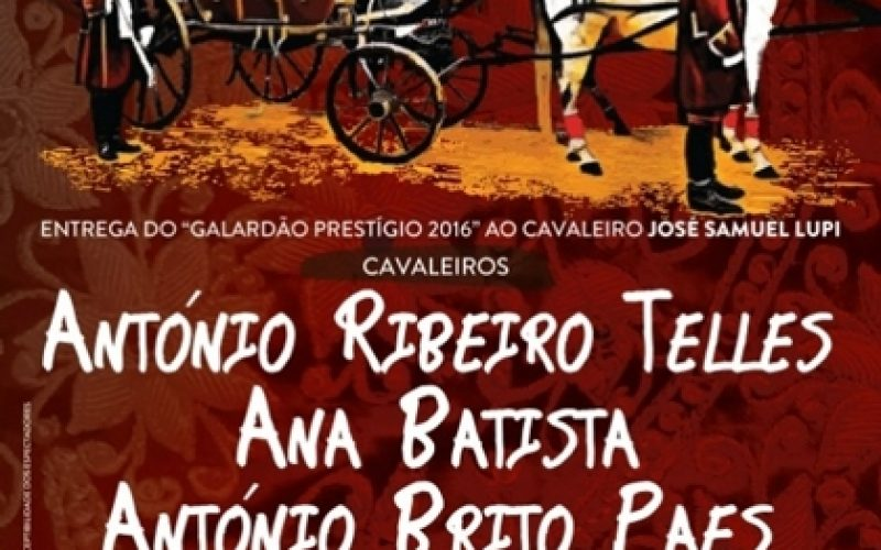 Cartel oficial da Corrida de Gala à Antiga Portuguesa