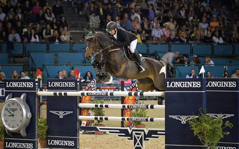 Mexico's Enrique Gonzalez is Best in an Olympian Duel in the $100,000 Longines FEI World Cup™ Jumping Del Mar