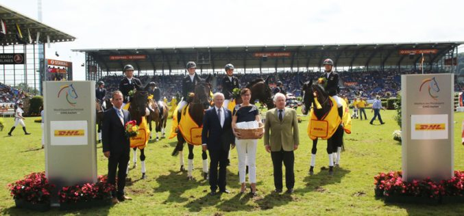 Eventing: Black, red and gold festival in the DHL Prize
