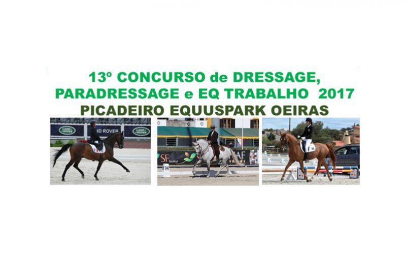 13º Concurso de Dressage, Paradressage e Equitação de Trabalho – 23 de Julho