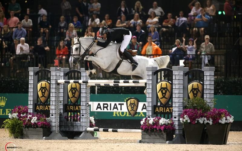 Andrew Kocher Guides Navalo De Poheton to Major Win in $130,000 Ariat® Grand Prix CSI 3*