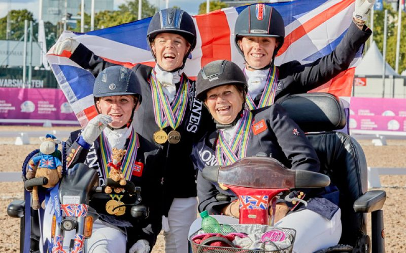 Britain's double gold medal debutante Julie Payne