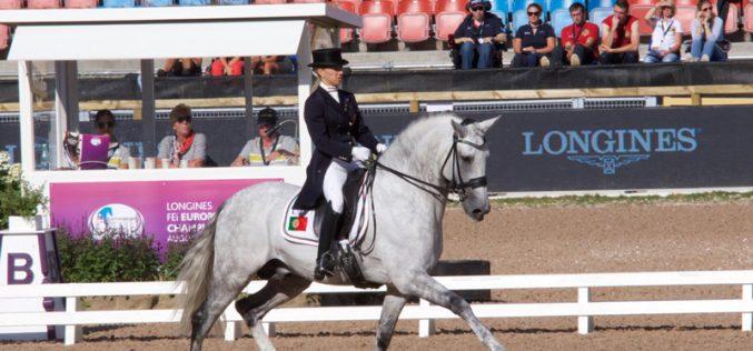 Europeu de Dressage 2017: Maria Caetano Couceiro / Coroado AR pontuou no Grande Prémio 70,843% (21º).