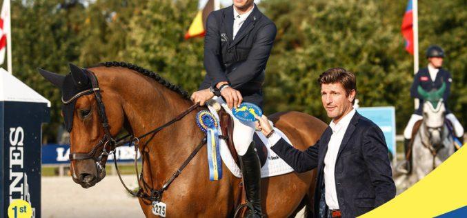 Mundial de Cavalos Novos 2017: Rodrigo Giesteira Almeida e Lycero St. Hubert no primeiro lugar do pódio (VÍDEO)