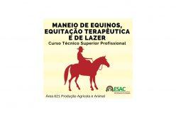 Curso Técnico Superior Profissional em Maneio de Equinos, Equitação Terepêutica e de Lazer