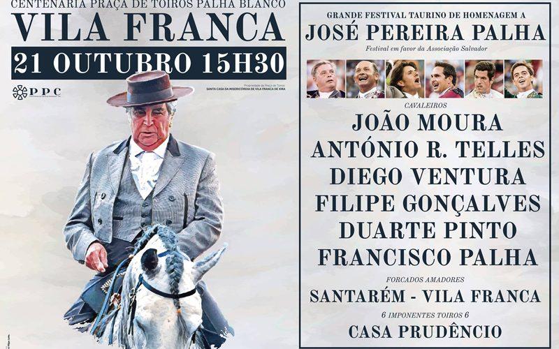 Festival taurino em Vila Franca para homenagear o saudoso José Palha