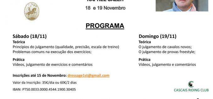 Dressage First: Inscrições abertas para Workshop em Novembro