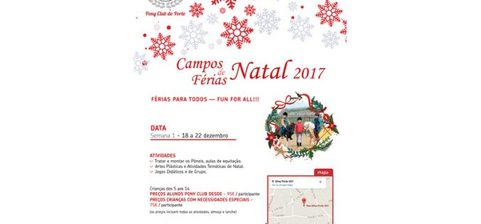Campos de férias do Natal no Pony Club do Porto