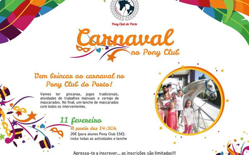 Neste Carnaval diversão é no Pony Club do Porto