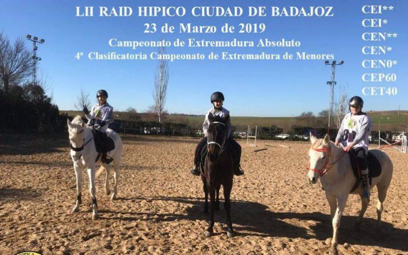 Raid Hípico 'Ciudad de Badajoz' – 5 Cavaleiros portugueses inscritos