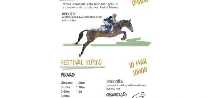 Centro Hípico D. Duarte – Clínica e Festival de saltos de obstáculos – 9 & 10 de Março