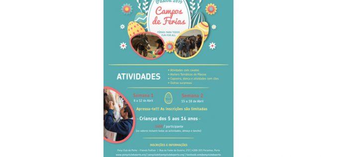 Estão abertas as inscrições para os Campos de Férias da Páscoa no Pony Club do Porto