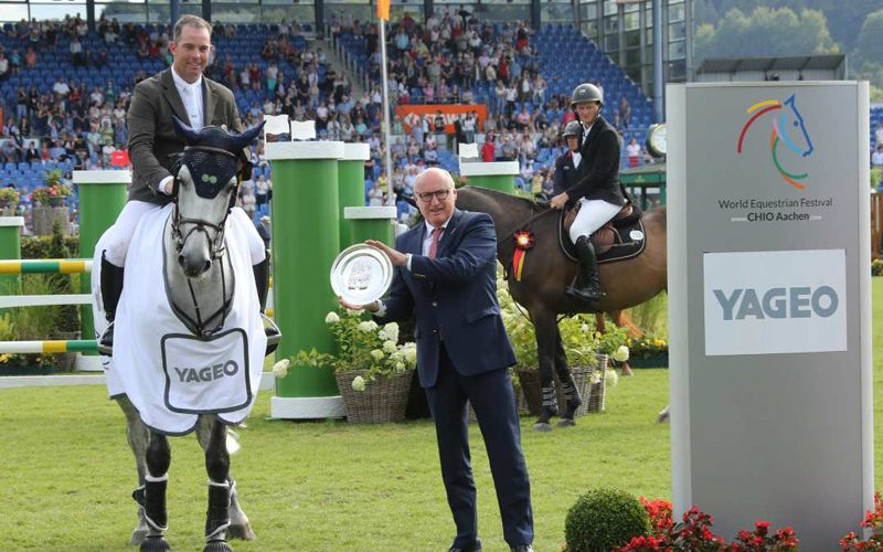 Cian O'Connor completes hat-trick of Aachen Speed Derby wins
