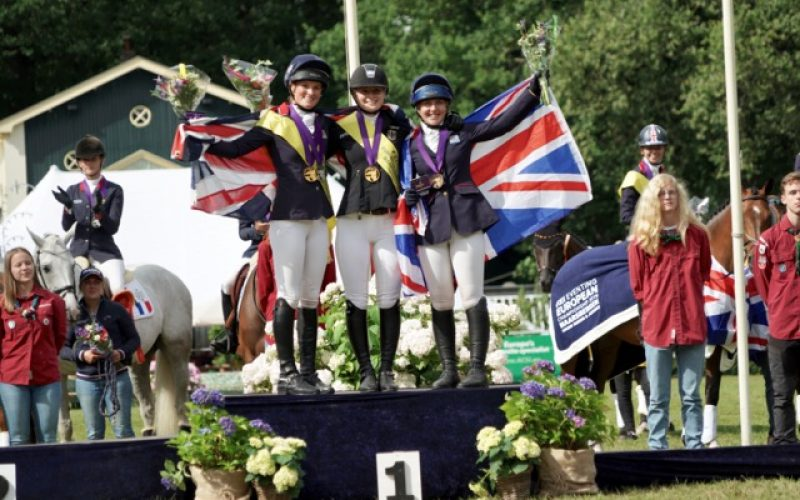 Three-time gold for Germany, Britain takes Young Rider team title