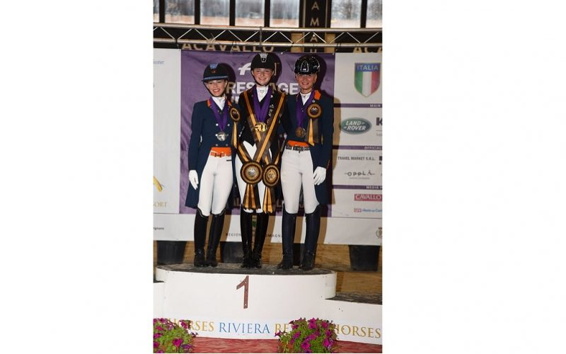 Gigantic medal haul for Germany at FEI Youth Dressage Championship