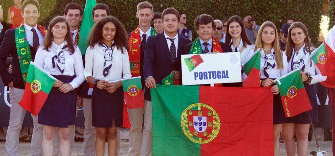 Campeonato da Europa de Dressage da Juventude: 10 atletas representaram Portugal no desfile da Cerimónia de Abertura