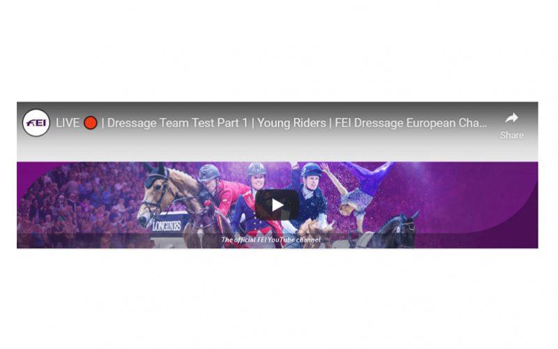Siga em directo os Campeonatos da Europa de Dressage da Juventude 2019