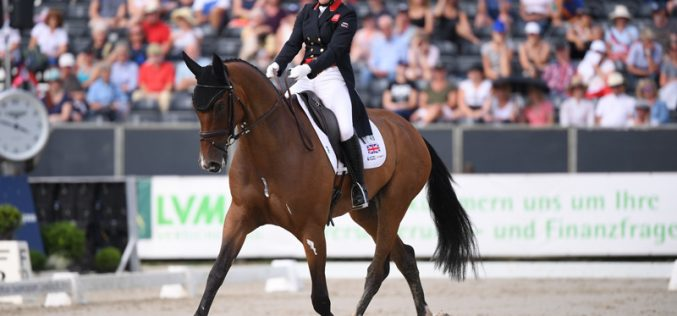 FEI Eventing European Championship: Laura Collett holds top spot after first day Dressage