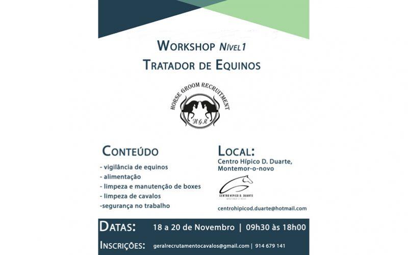 Workshop Tratador de Equinos Nível I