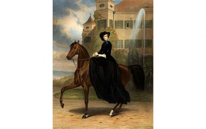 Quando o cavalo ensinado em alta-escola é destinado a uma dama…