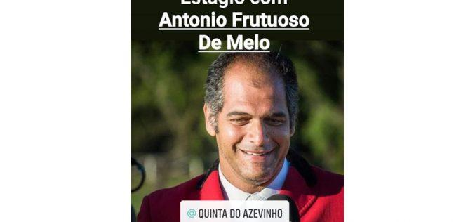 Estágio com António Frutuoso de Melo em Junho