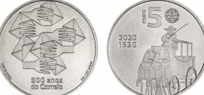"""Moeda de coleção – """"500 Anos do Correio em Portugal"""" entra em circulação a 18 de setembro"""