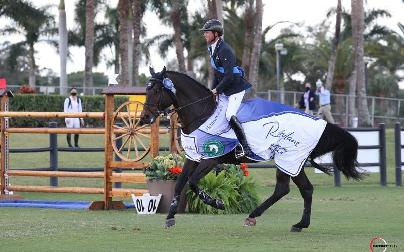 Ben Maher and Tic Tac win the WEF Grand Prix on Sunday