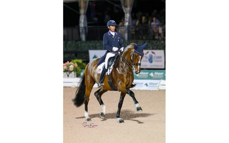 Steffen Peters dances to Victory Under the Lights in the FEI Grand Prix Freestyle CDI5*