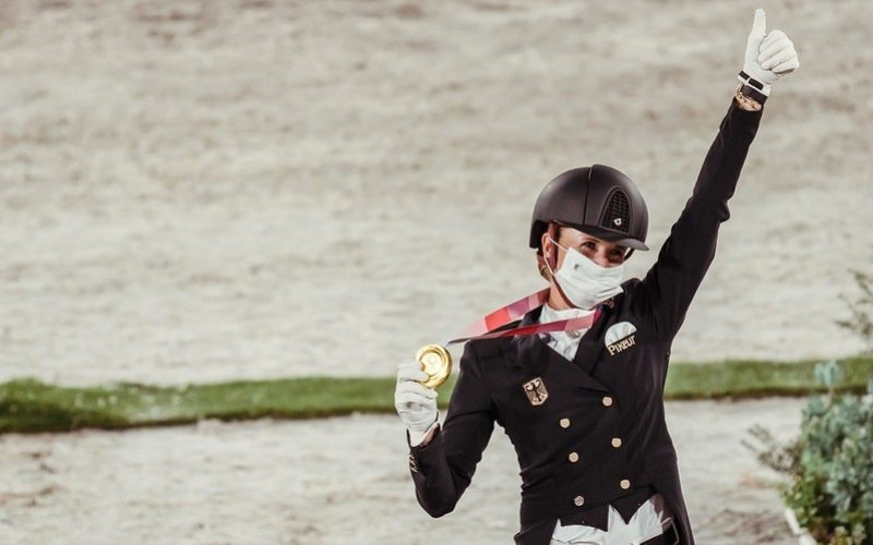 Tokyo2020: Tears and cheers as von Bredow-Werndl takes individual gold