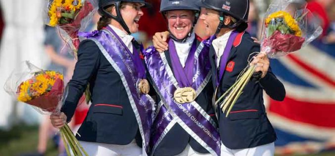 It's all glory for Great Britain's golden girls at Avenches